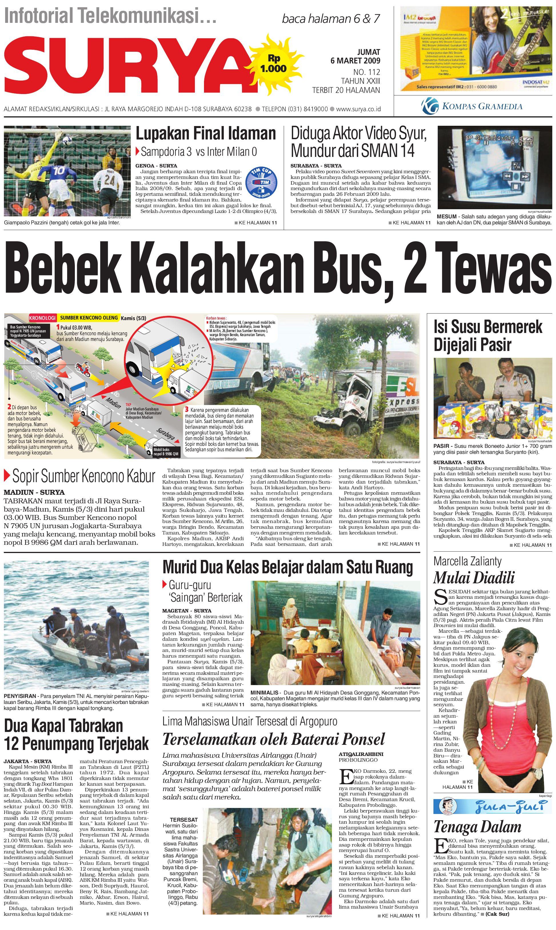 Edisi Cetak 06 Maret 2009 By Harian Surya Issuu
