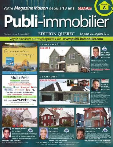 Publi immobilier volume 14 no 3 mars 2009 by lepubli for 20 volume salon gilbert