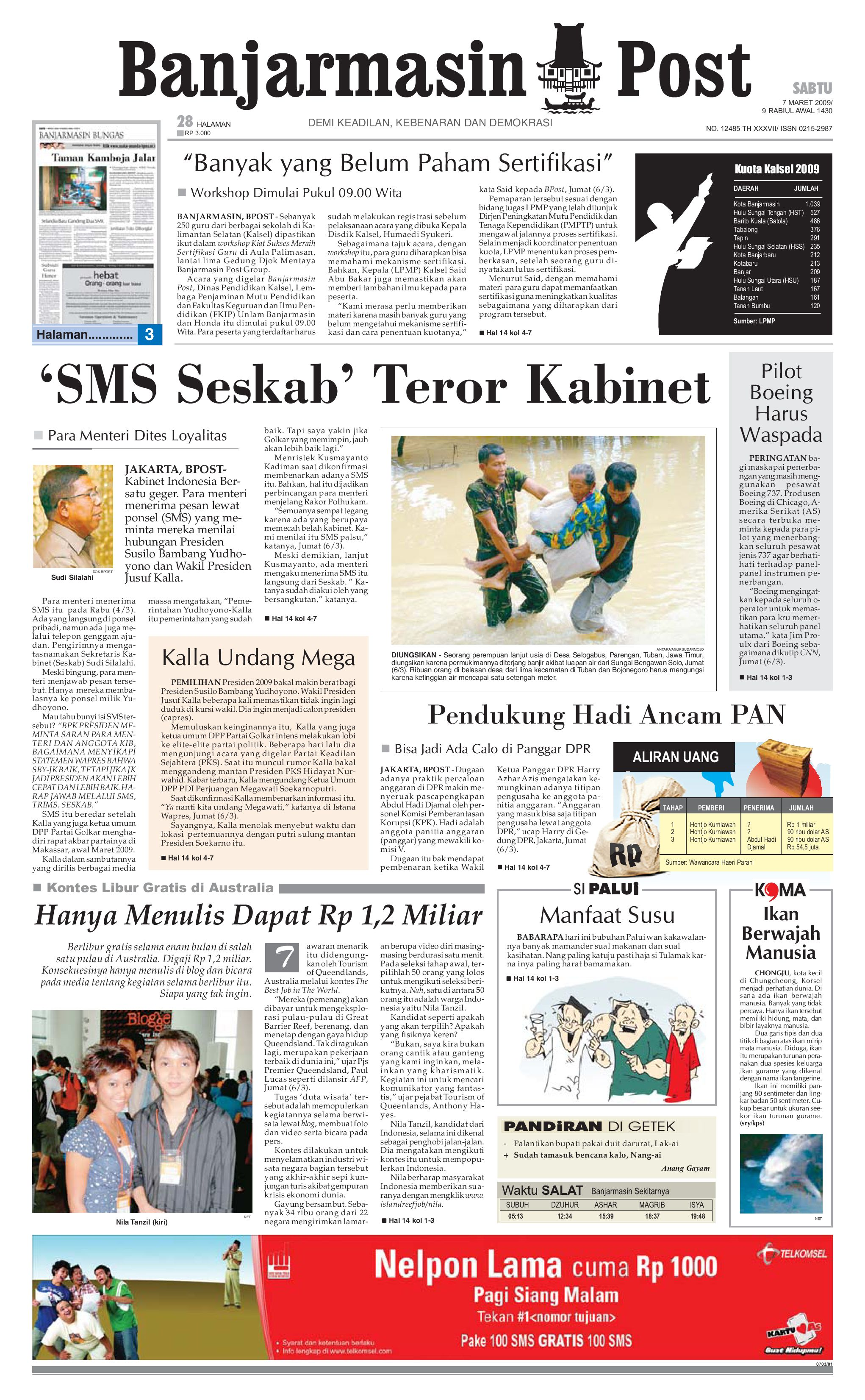 Banjarmasin Post 7 Maret 2009 By Issuu Nature Pecinta Voucher Hypermart 50000 Alam