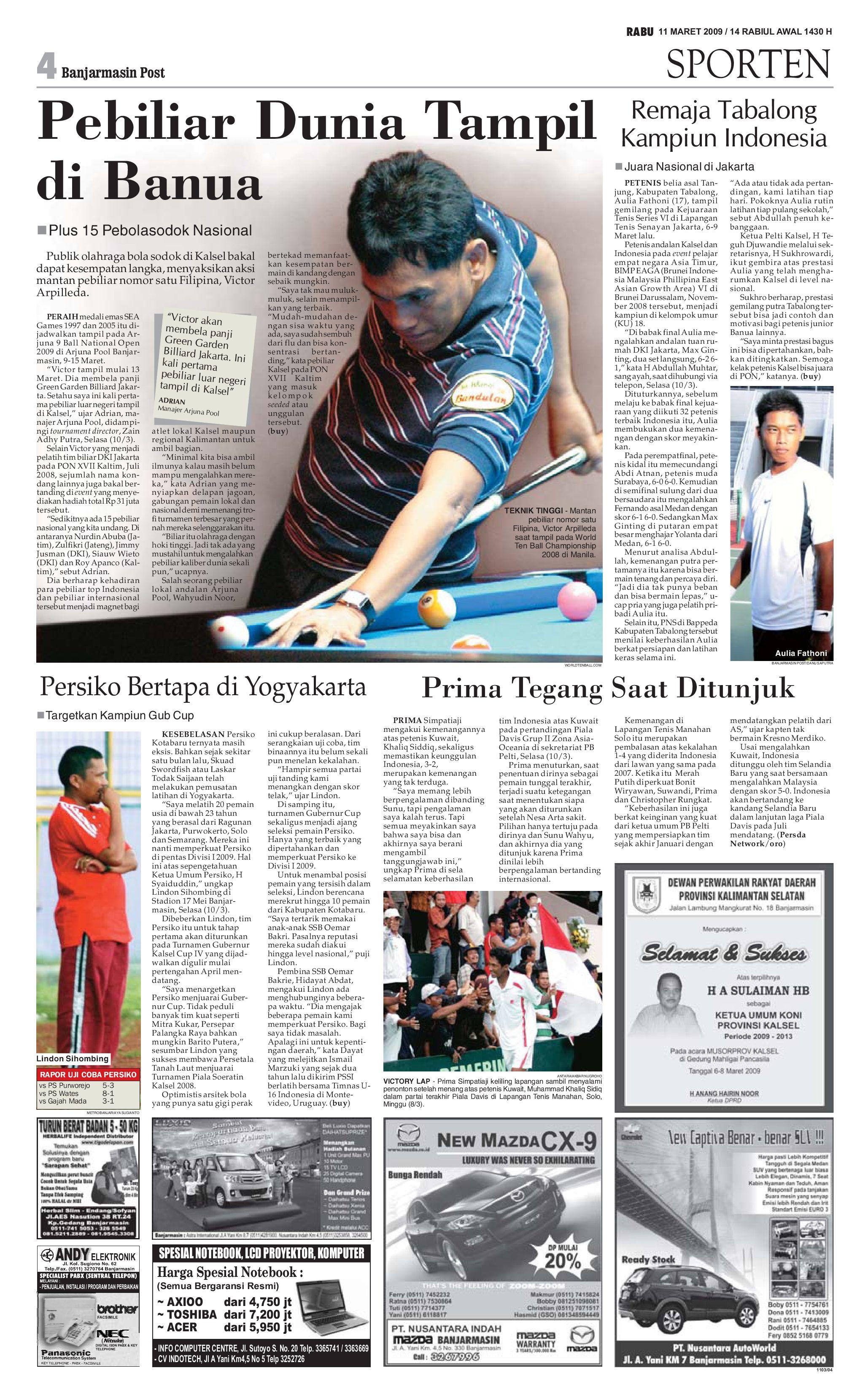 Banjarmasin Post 11 Maret 2009 By Banjarmasin Post Issuu