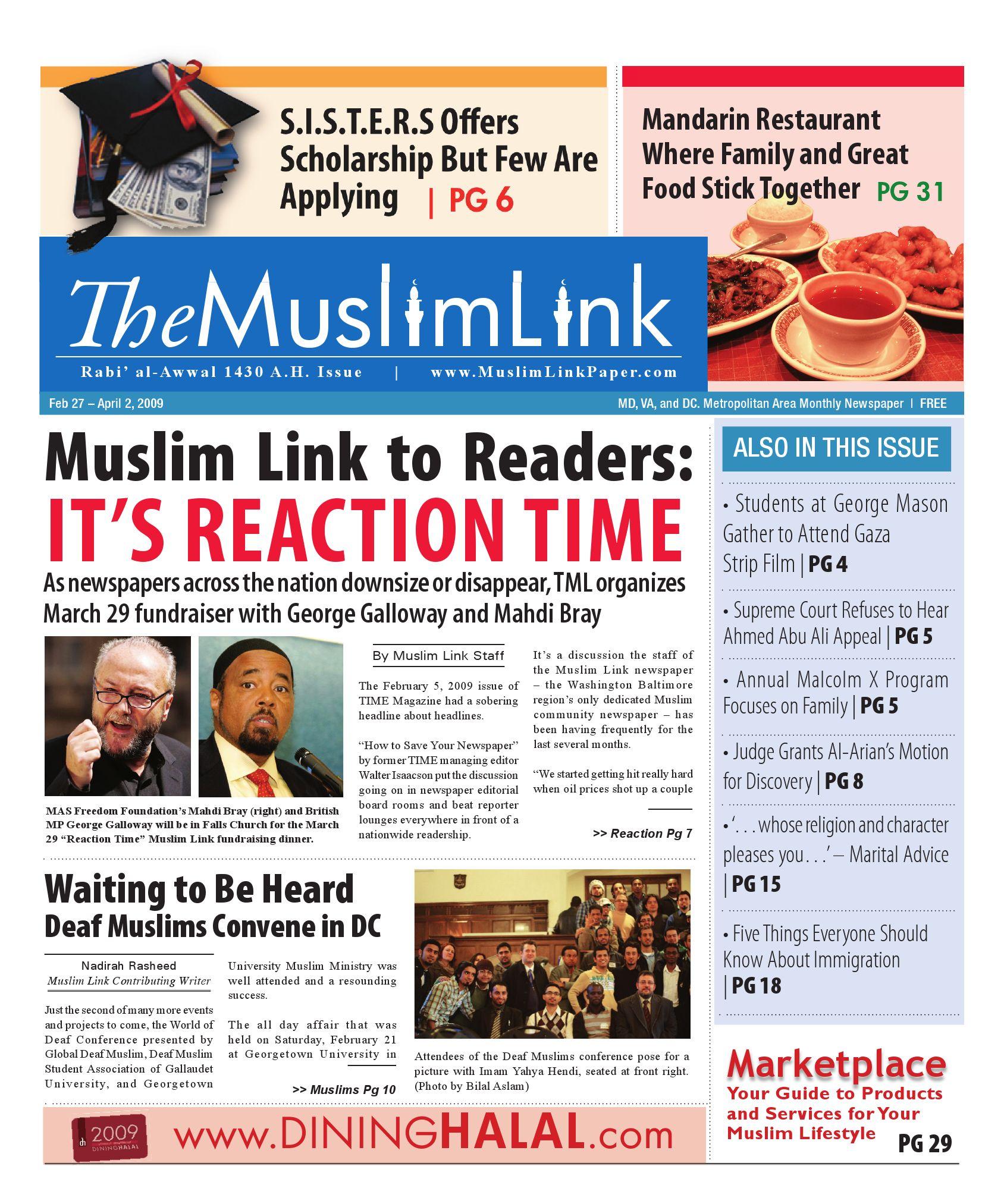 The Muslim Link - Rabi' al-Awwal 1430 - 02/27/09 by The Muslim Link