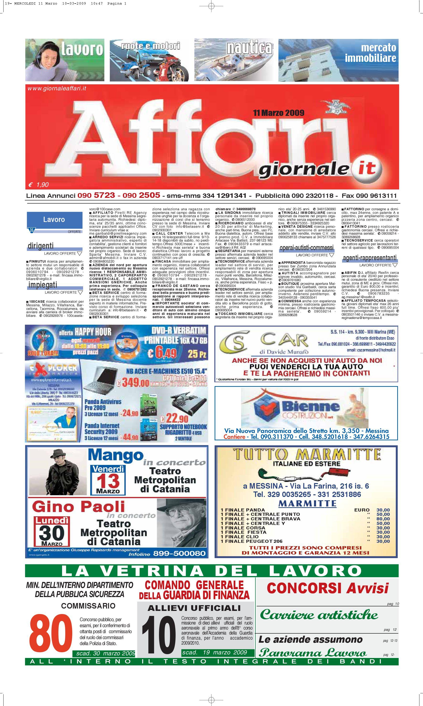 Giornale affari mercoledi 11 marzo 2009 by editoriale affari srl issuu