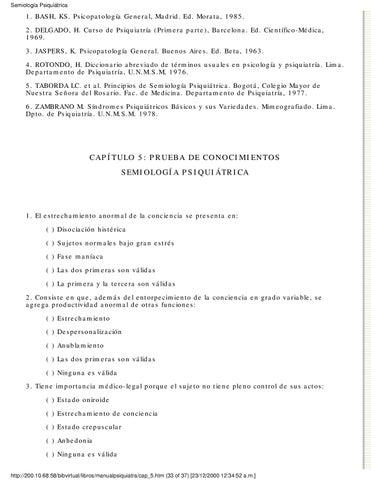 Semiologia Psiquiatrica De Taborda Download