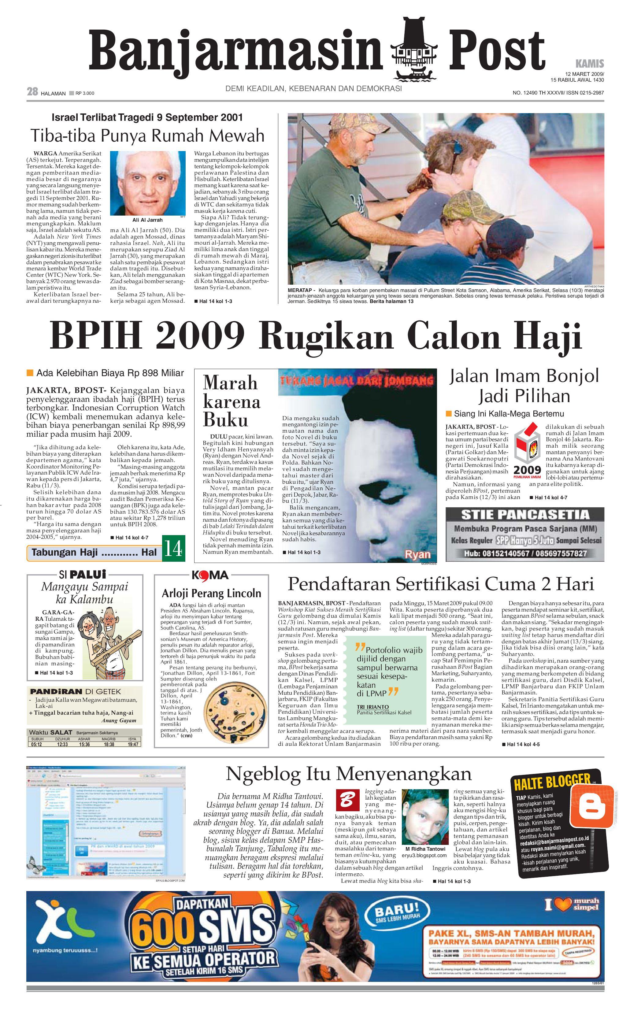 Banjarmasin Post 12 Maret 2009 By Issuu Snack Gayem Pangsit Bantal Imut Bdg