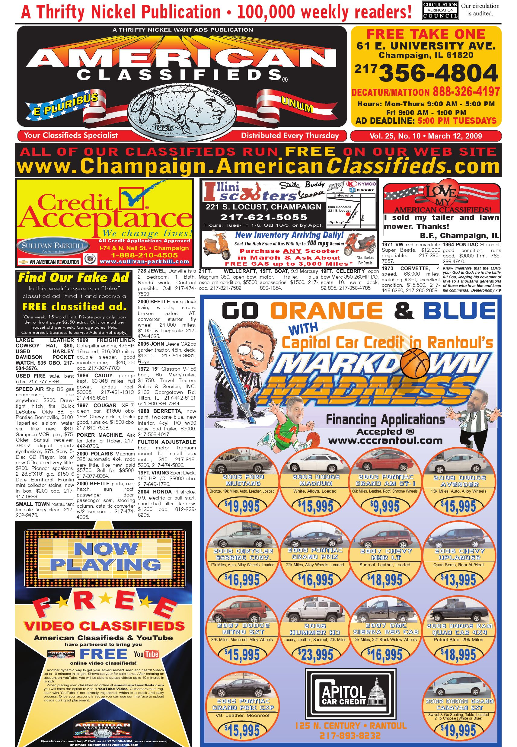 American Classifieds Champaign March 12 2009 By 1986 Ford Cl9000 Cl 9000 Big Trucks Wiring Diagrams Schematics Issuu