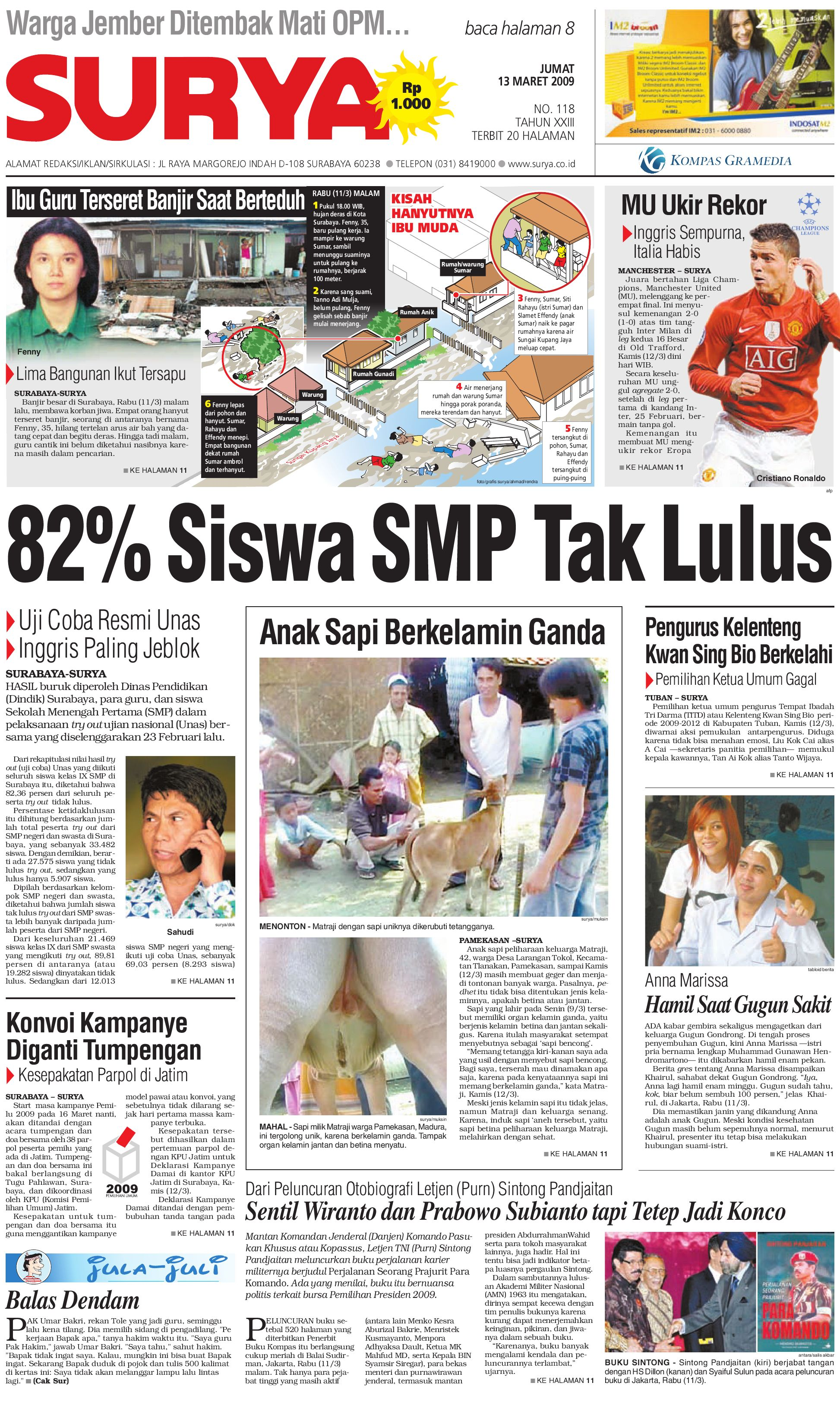 Edisi Cetak 13 Maret 2009 By Harian Surya Issuu Produk Ukm Bumn Batik Tulis Babon Angrem