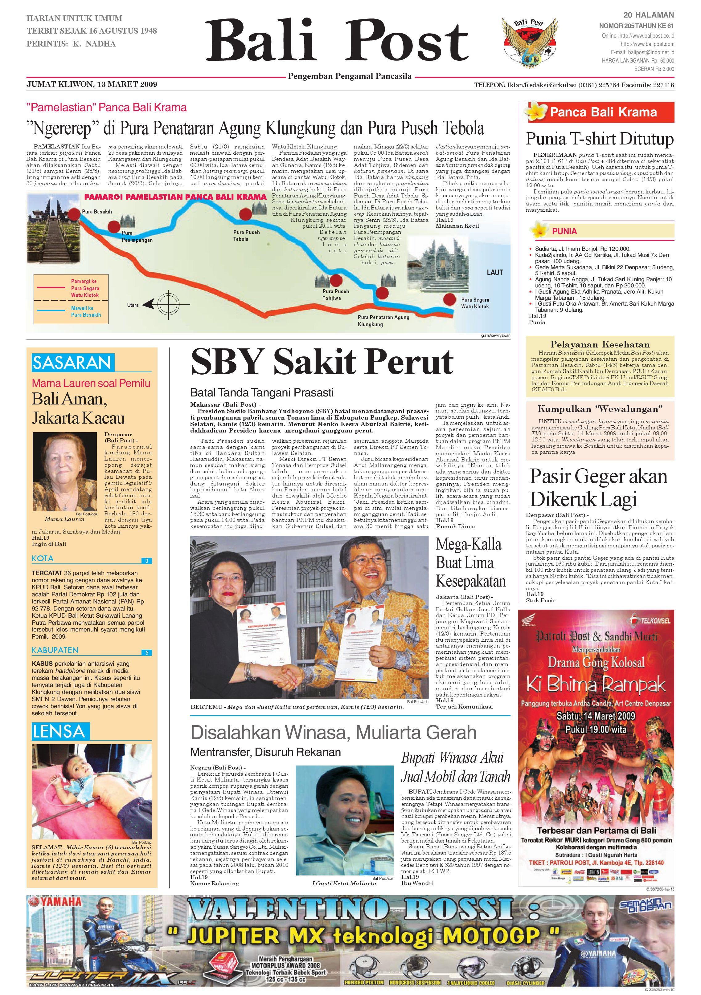Bali Post Jumat 13 Maret 2009 By E Paper Kmb Issuu Voucher 300 Plus Tiara Gatzu Monang Maning Toko Soputan