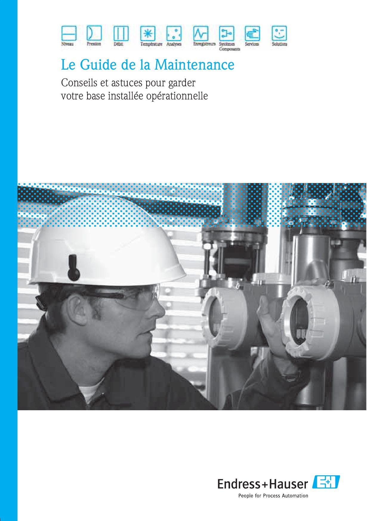 Le Guide de la Maintenance Endress+Hauser by ENDRESS+HAUSER