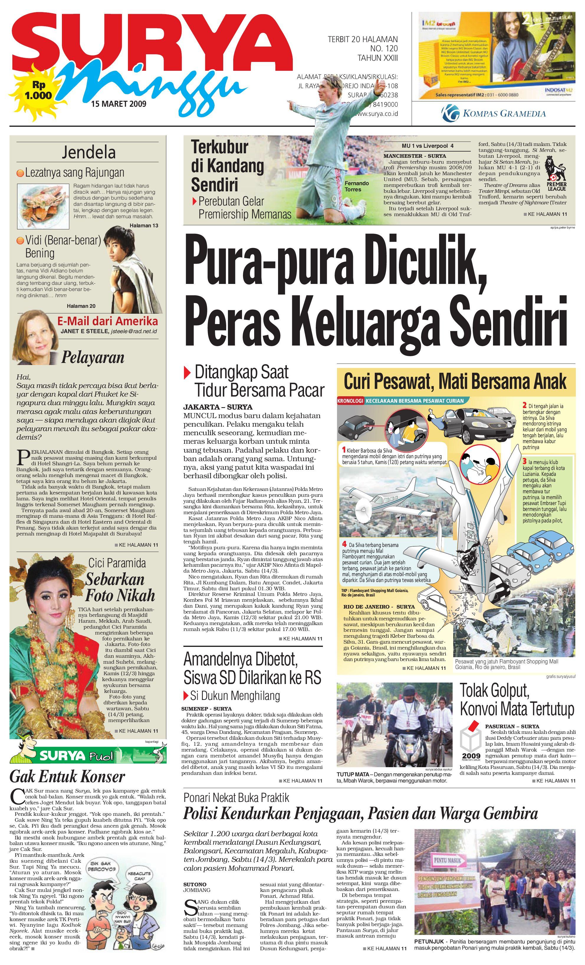 edisi cetak 15 maret 2009 by harian surya issuu