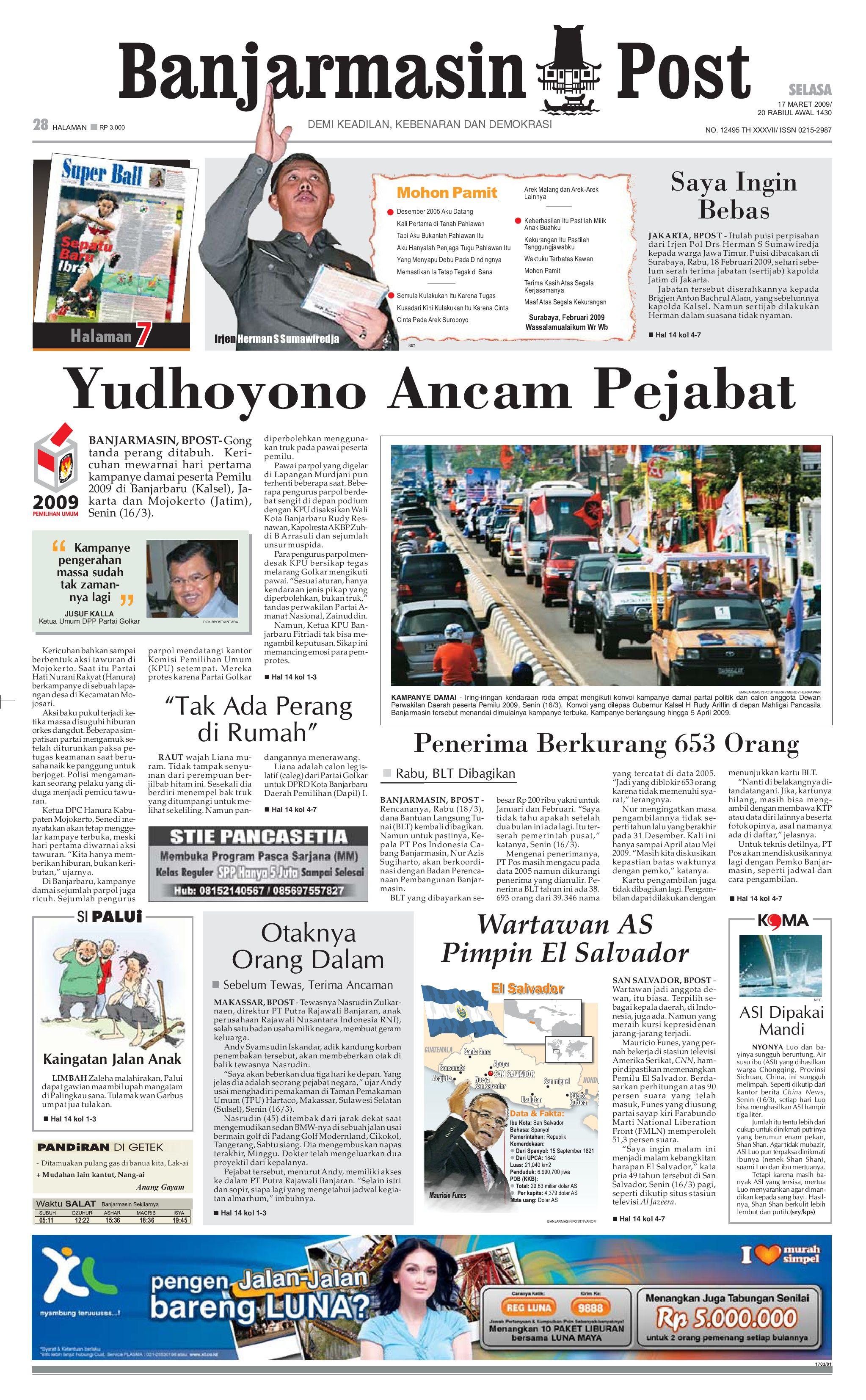 Banjarmasin Post 17 Maret 2009 By Issuu Produk Ukm Bumn Tekiro Tang Buaya 10