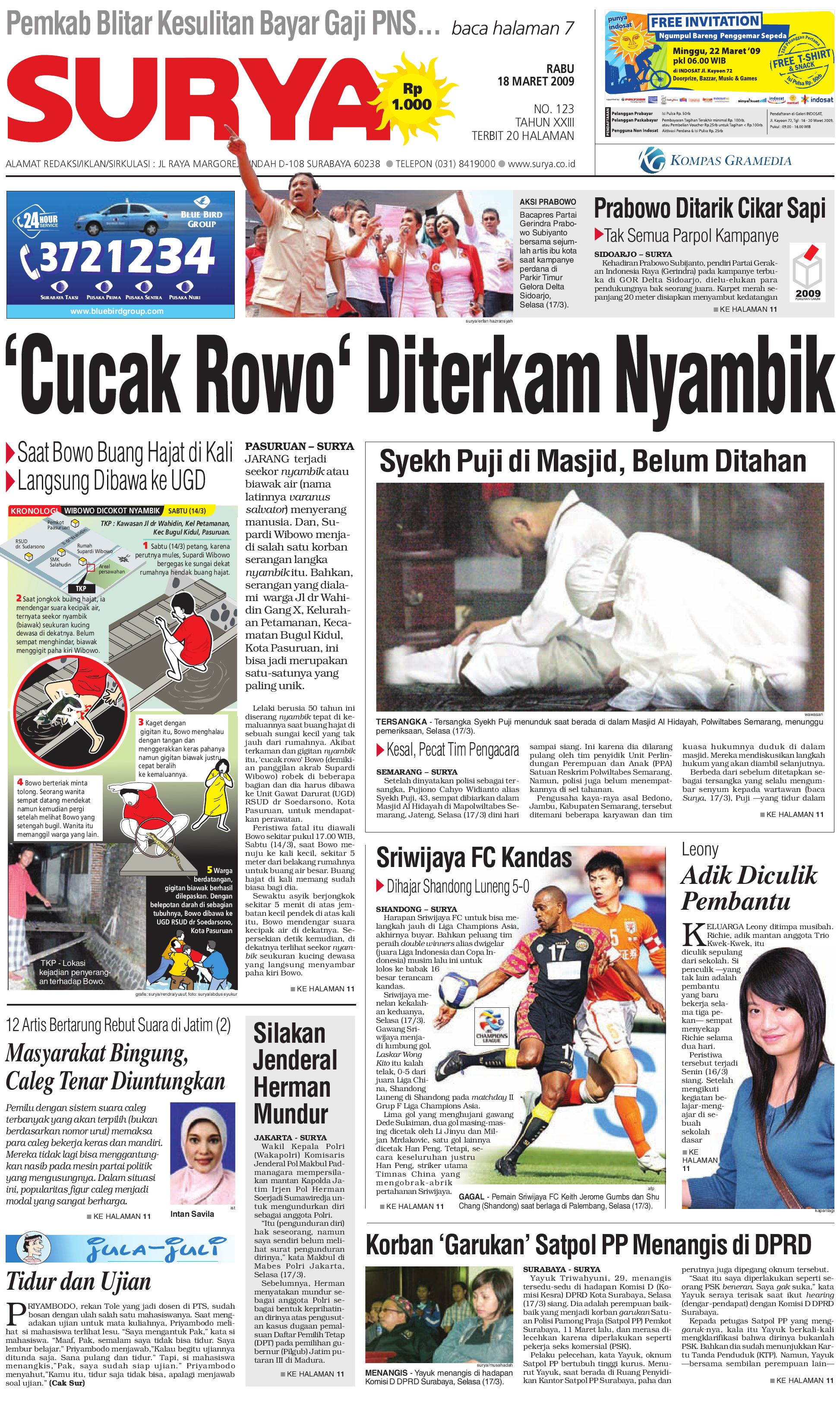 Harian Surya Edisi Cetak 18 Maret 2009 By Issuu Rejeki Anak Soleh 3 Voucher Carrefour Rp 200000