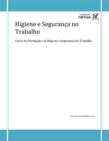 1e9af11d83fe4 Manual de Segurança, Higiene e Saúde no Trabalho by Ricardo Silva ...