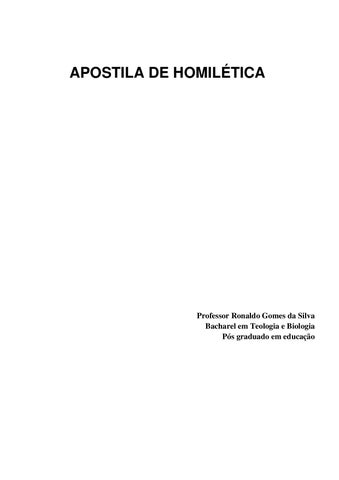 apostila de homiletica