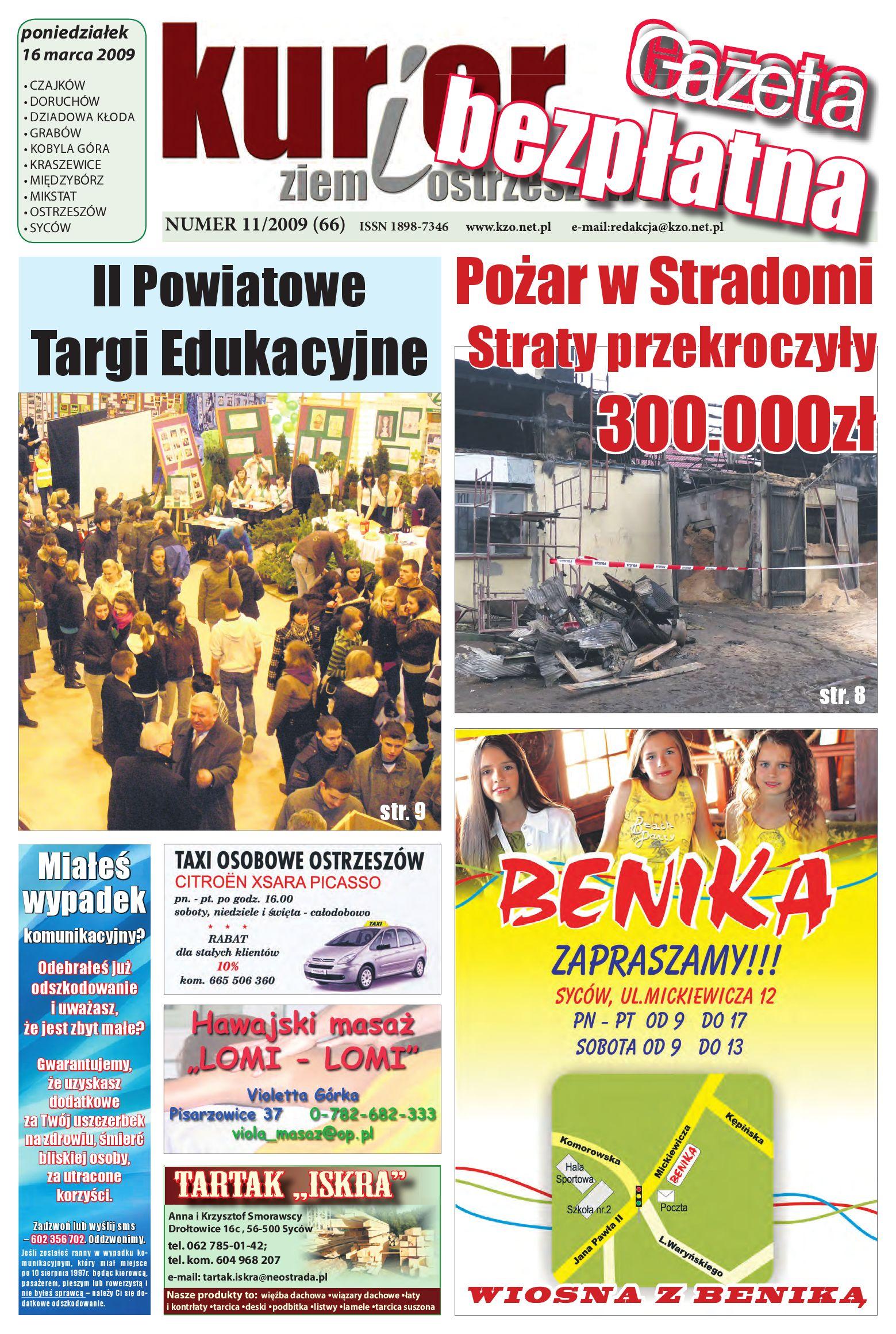 Kurier Ziemi Ostrzeszowskiej Nr 112009 66 16 Marca
