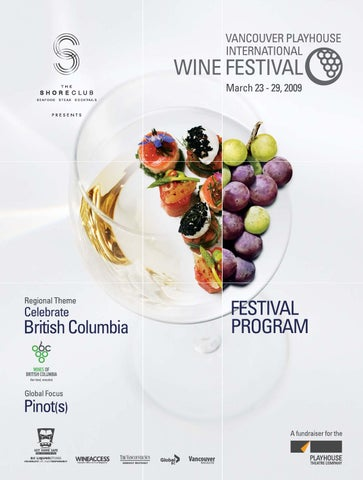 2009 Vancouver Playhouse Interntaional Wine Festival Program