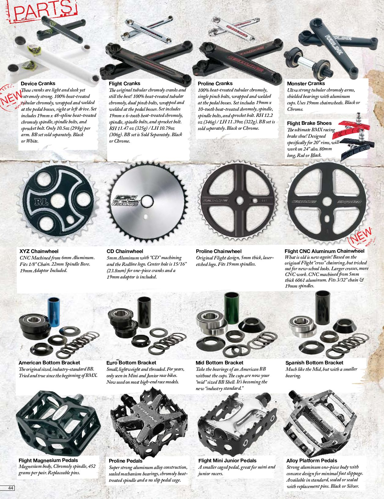 Thread Redline BMX Sprocket 3//32 Track Various Sizes