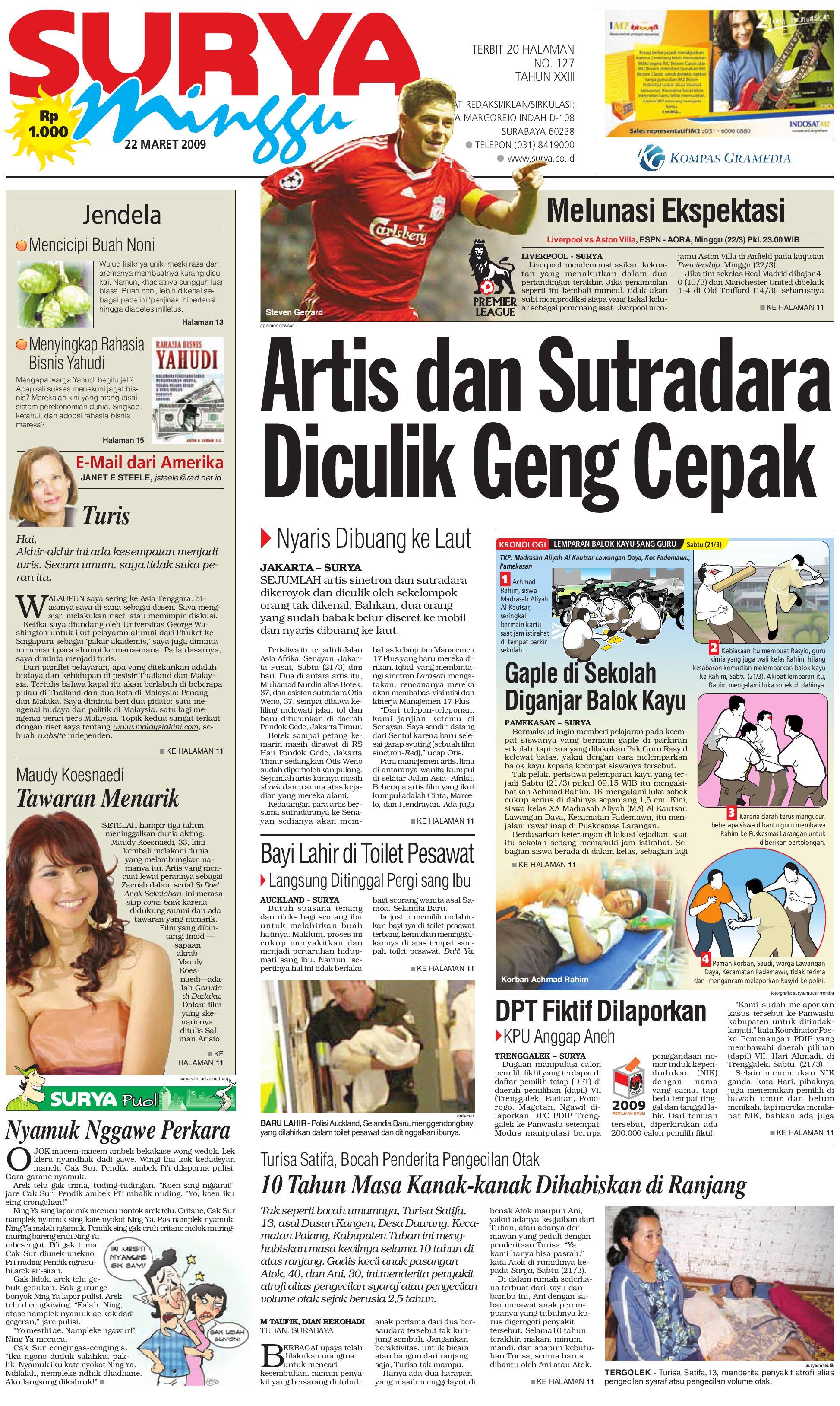 Surya Edisi Cetak 22 Maret 2009 by Harian SURYA - issuu e4d9740938