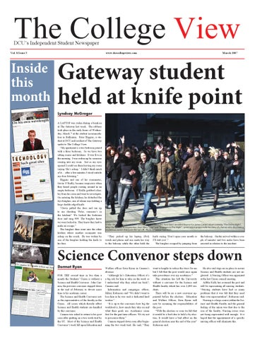 The College View DCU s Independent Student Newspaper Vol. 8 Issue 5 5a01585c18ea