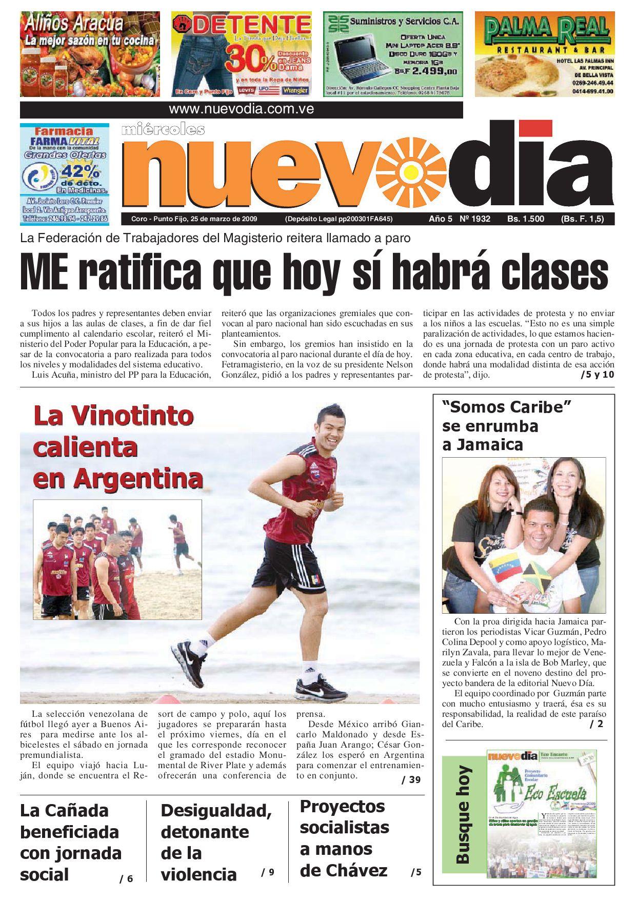 Diario Nuevodia Miércoles 25-03-2009 by Diario Nuevo Día - issuu