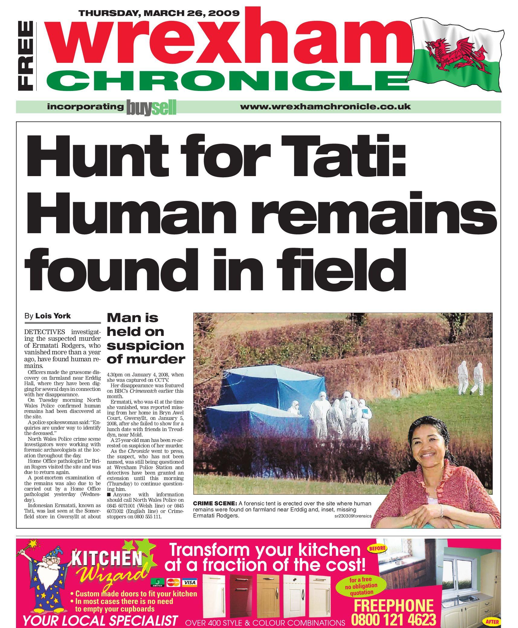 Wrexham Chronicle, 26/3/09