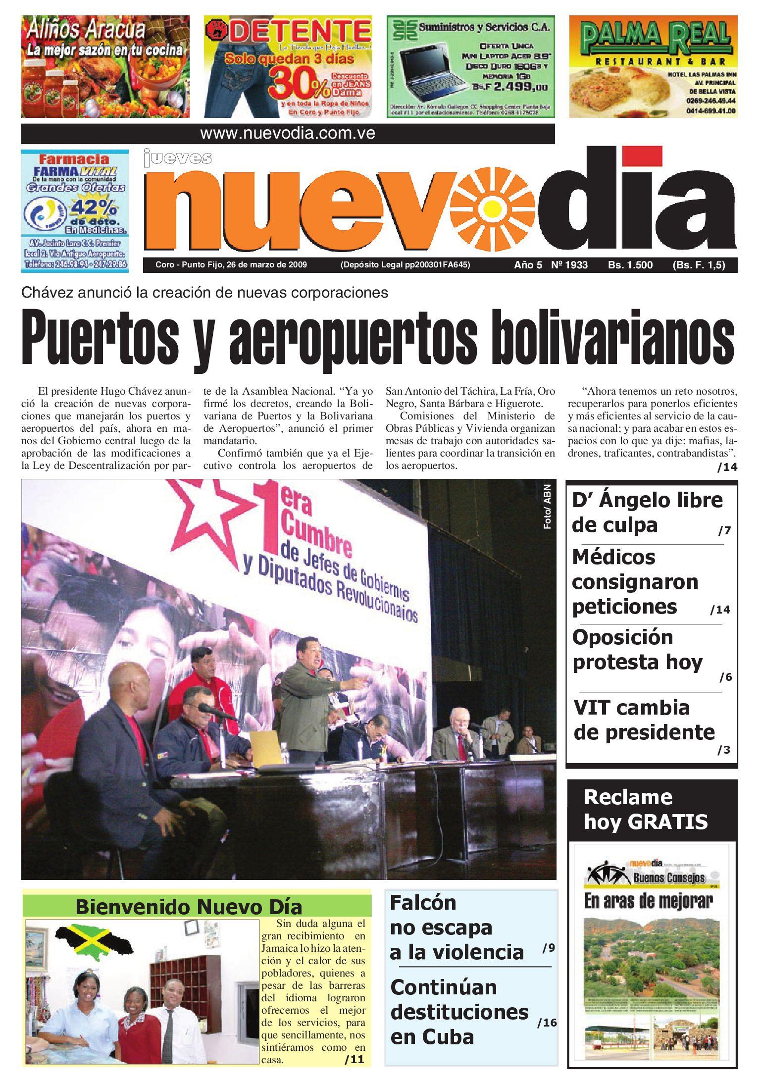 Diario Nuevodia Jueves 26-03-2009 by Diario Nuevo Día - issuu