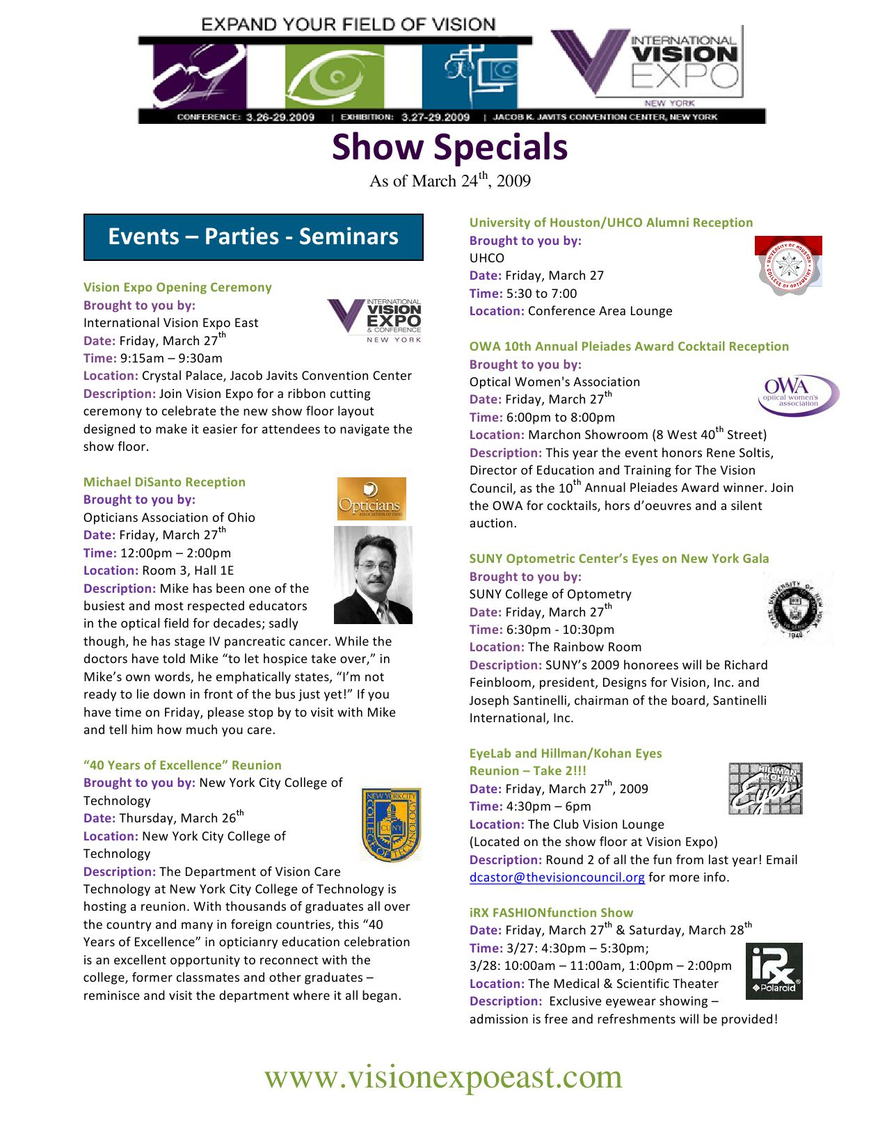 Vision East Show Specials v11 by Reed Exhibitions - issuu