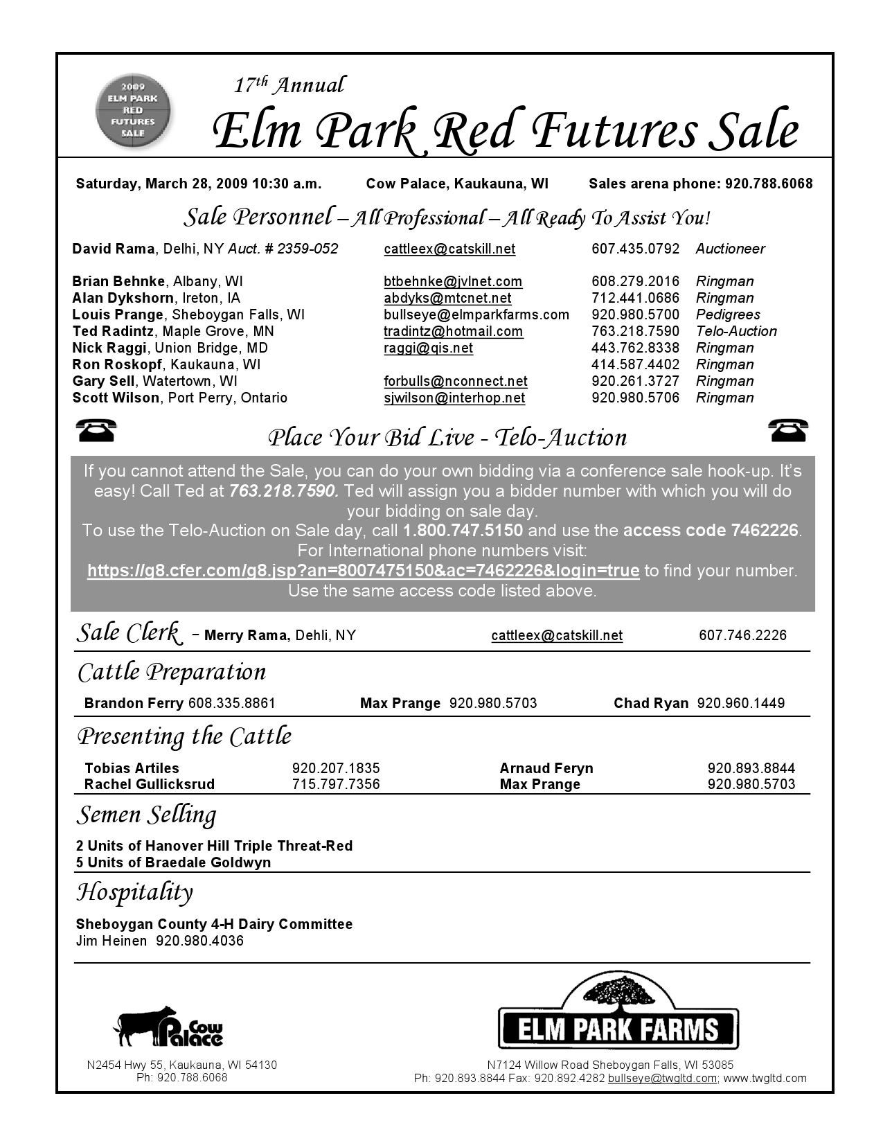 Elm Park Farms 17th Red Futures Sale by Mary Angelo - issuu
