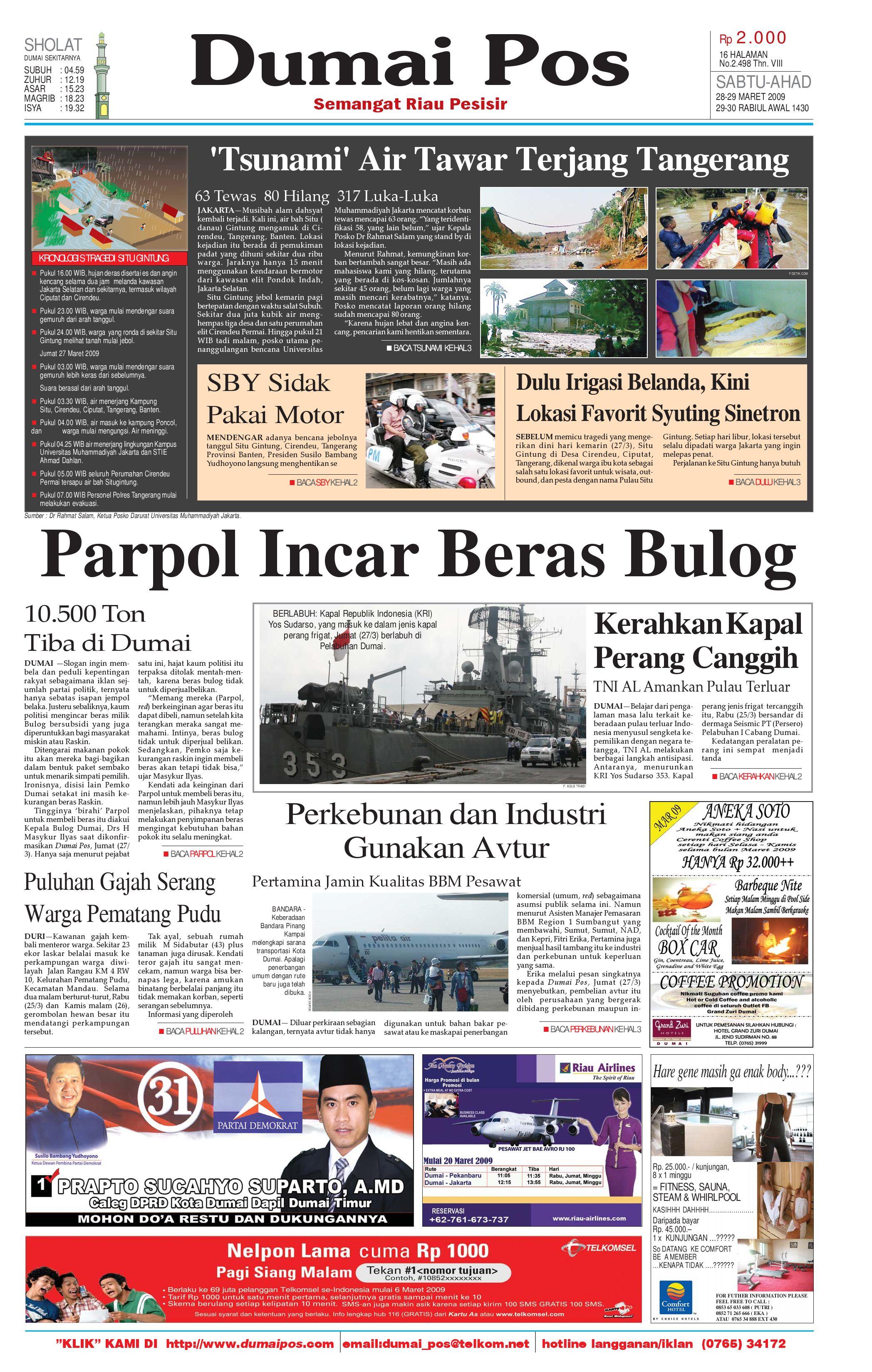 Dumai Pos 28 Maret 2009 By Issuu Kopi Bubuk Ridha Utama Smg