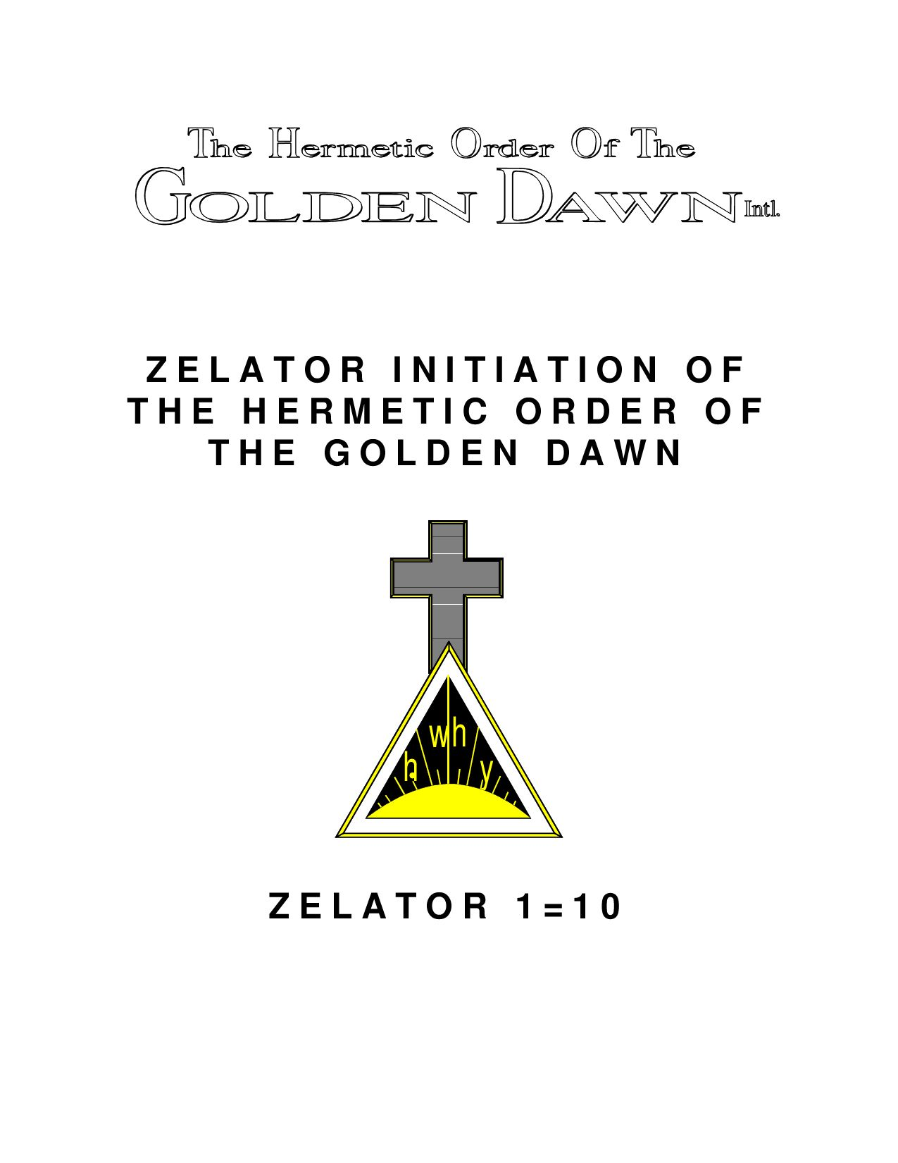 Zelator Initiation Of The Hermetic Order Of The By Marco Tomaselli