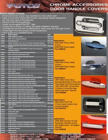 TFP 407L Door Handle Cover Trim Ford Mercury Chrome Lincoln