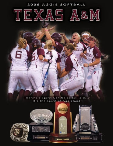 on sale 265aa 579f2 2009 Texas A M Softball Media Guide