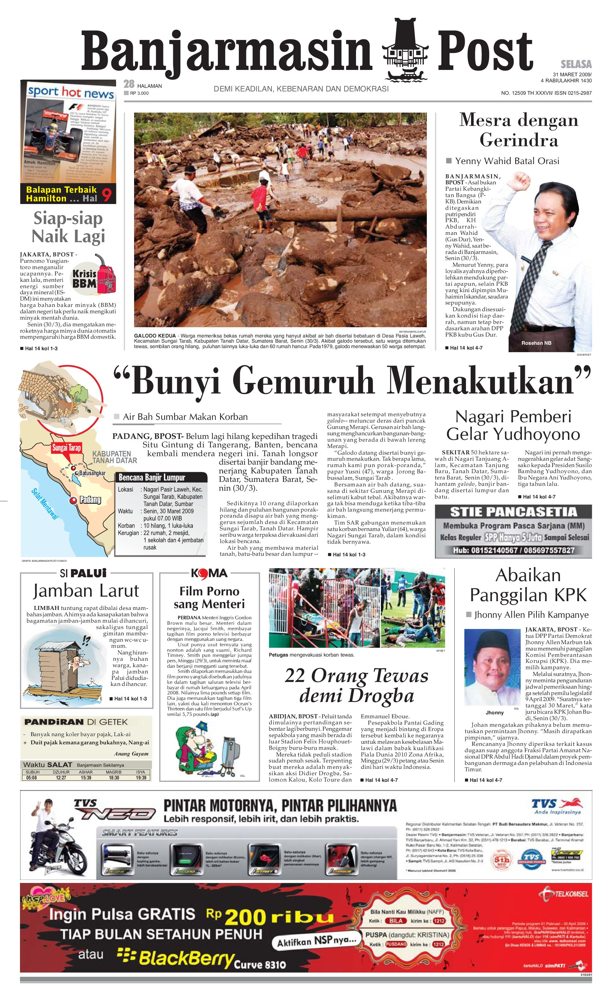 Banjarmasin Post 27 Februari 2009 By Issuu Rejeki Tcash Voucher Mcdonaldamp039s Rp 300000 31maret