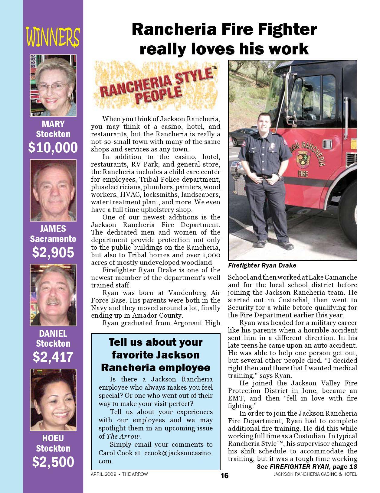 Jackson Rancheria S Arrow Magazine By Jackson Rancheria