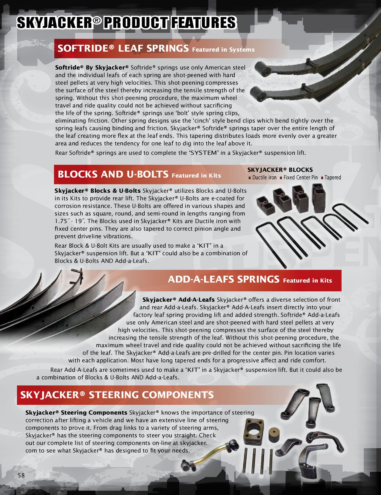 Skyjacker Product Features Softride Leaf Springs By Croft Supply Rear Adjustable Suspension Control Arms Camber Kit For Honda Ridgeline And Distribution Issuu