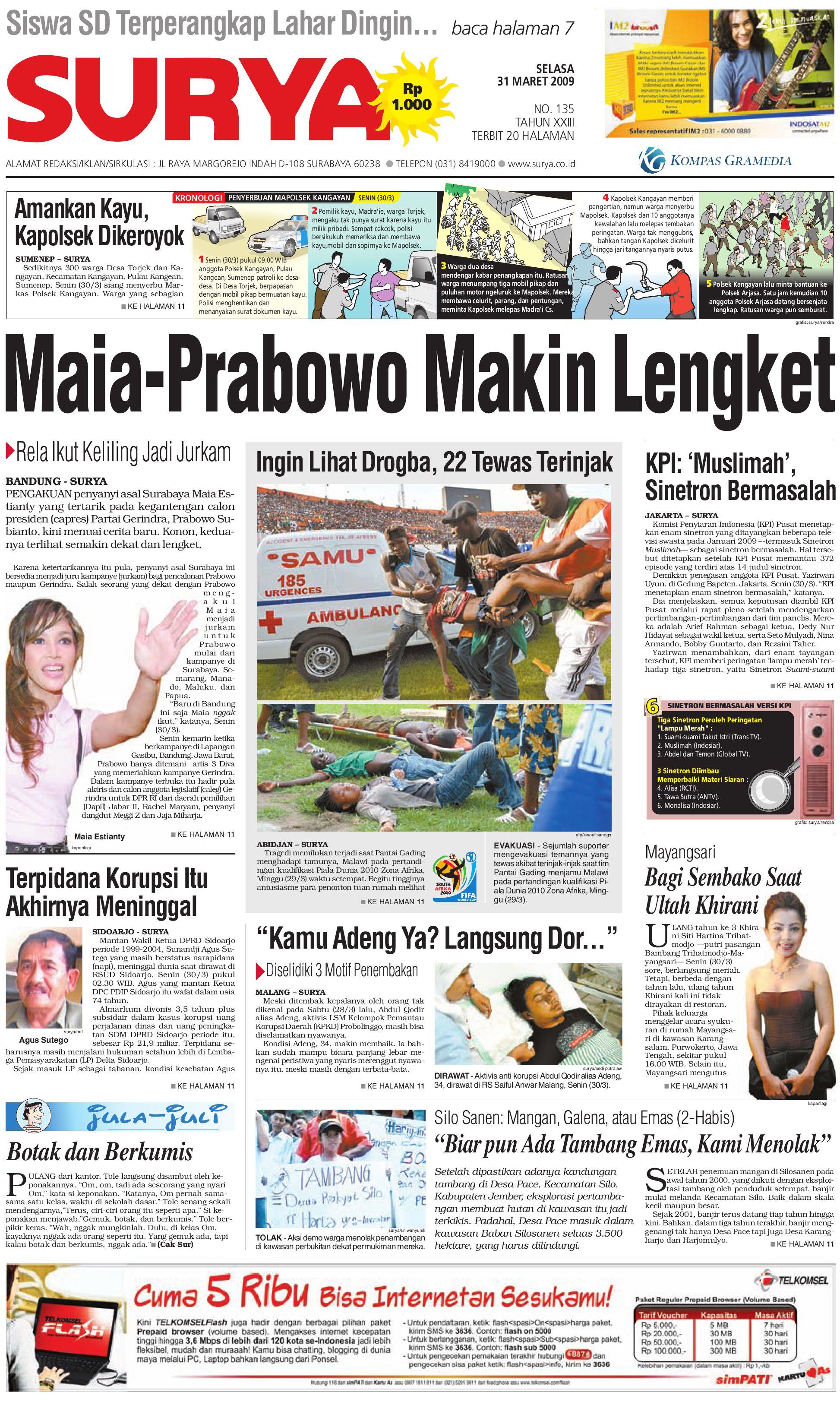 Surya Edisi Cetak 31 Maret 2009 By Harian Issuu Produk Ukm Bumn Sutra Super