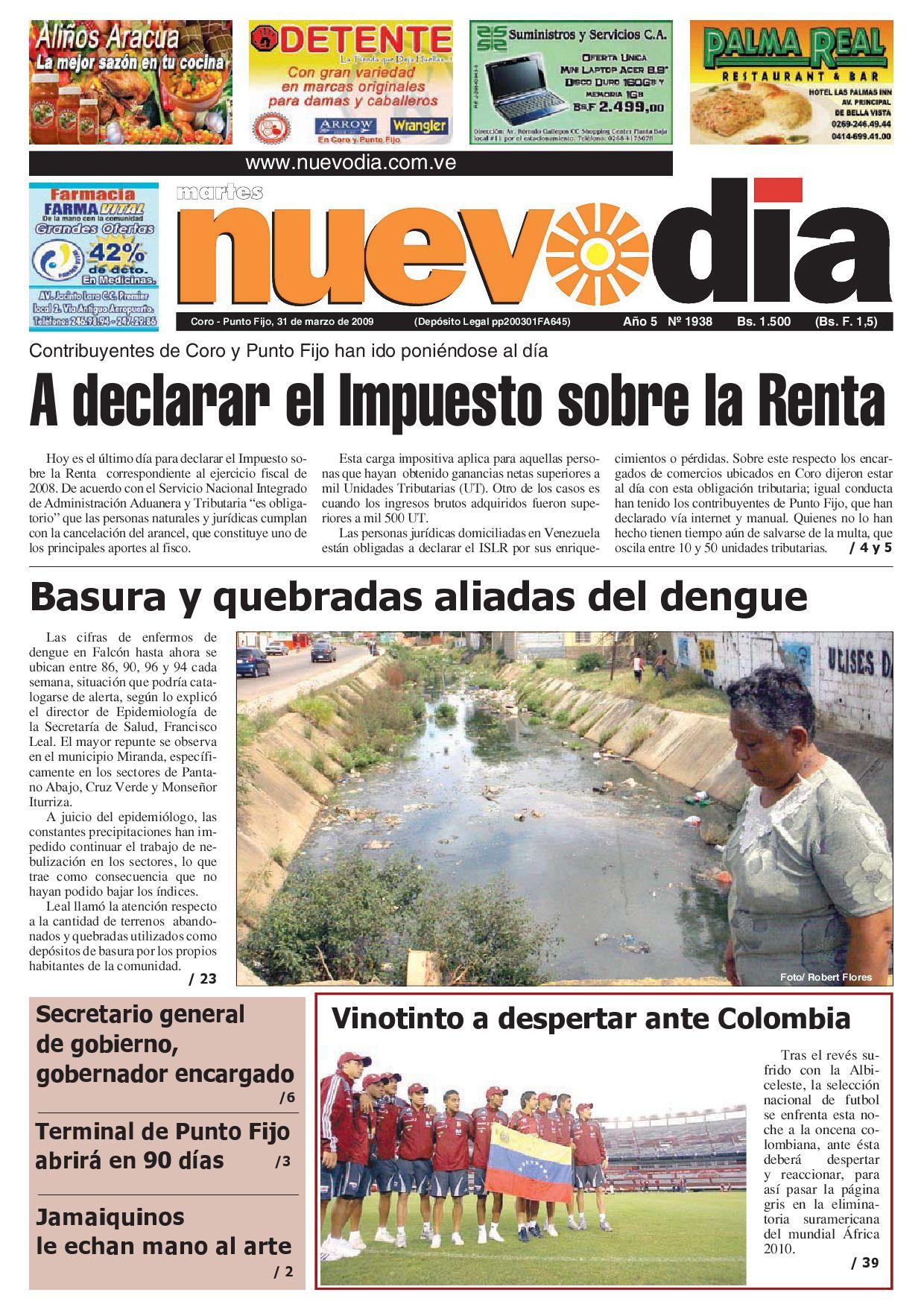 Diario Nuevodia Martes 31-03-2009 by Diario Nuevo Día - issuu