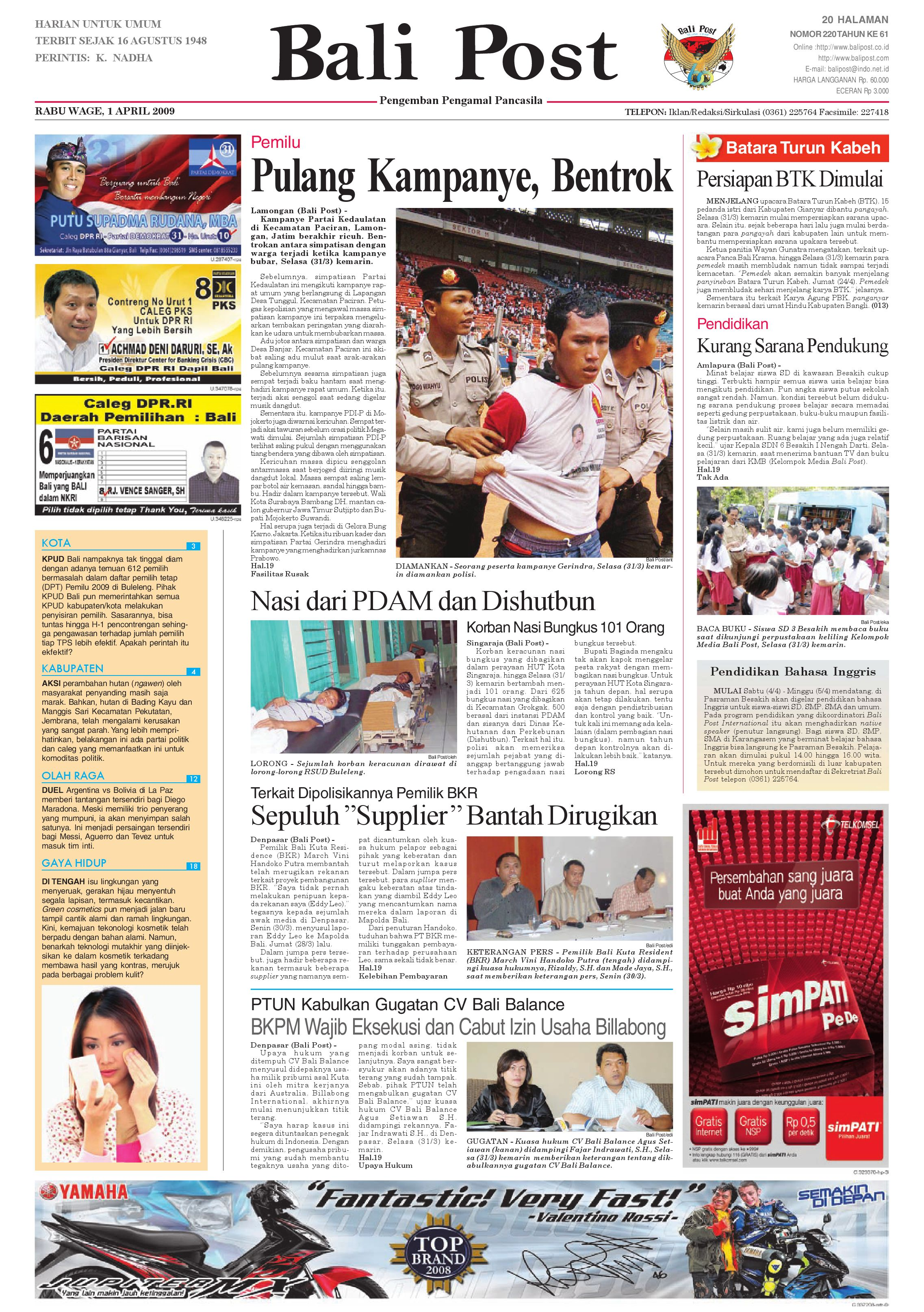 bali post rabu, 1 april 2009 by e paper kmb issuuMaterial Design Sign Up Modal Form With Password Plugin Php  347685 #3