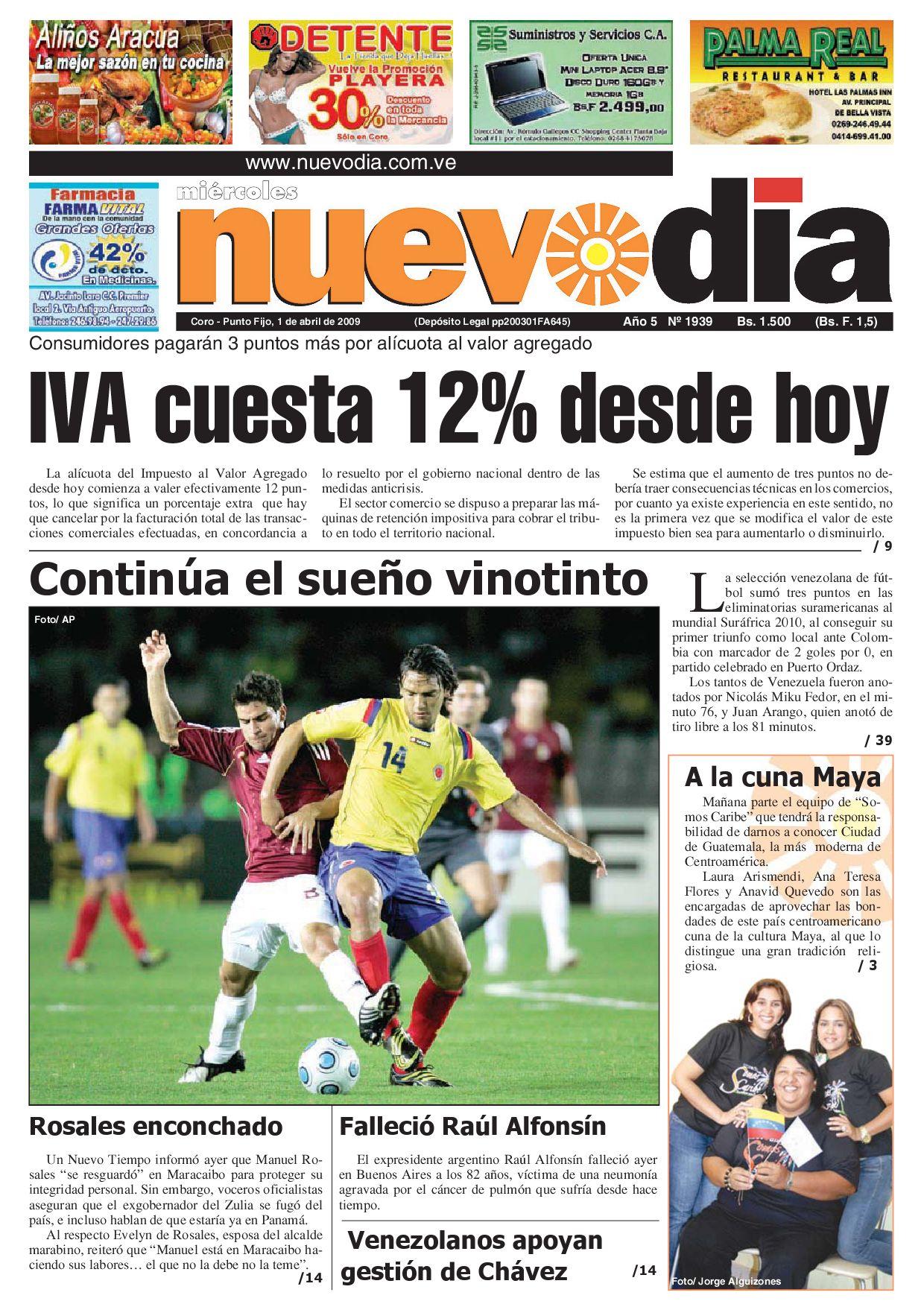 7c6cc29c3a Diario Nuevodia Miércoles 01-04-2009 by Diario Nuevo Día - issuu