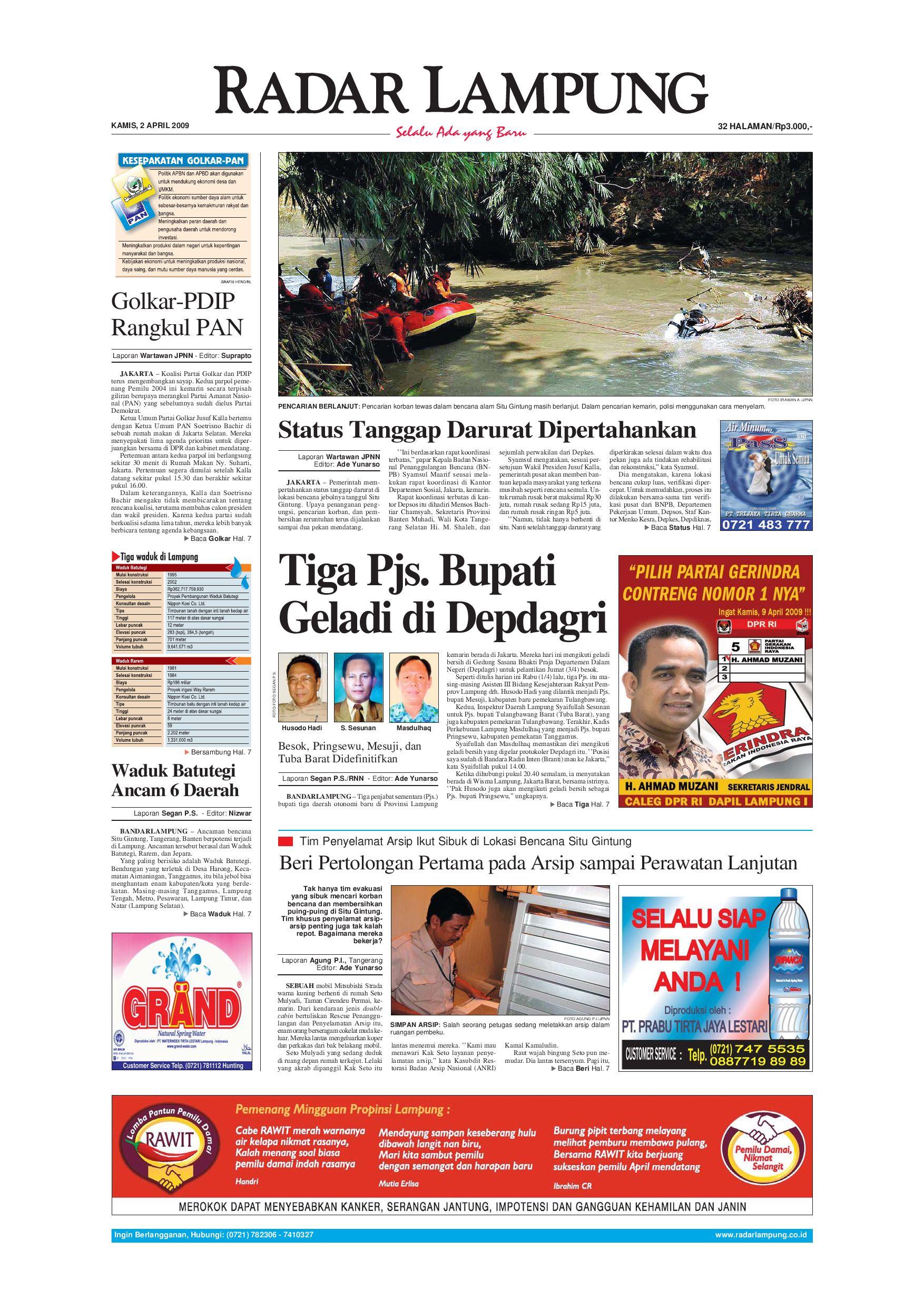 Radar Lampung Kamis 2 April 2009 By Issuu Tcash Vaganza 36 Produk Ukm Bumn Batik Print Motif3