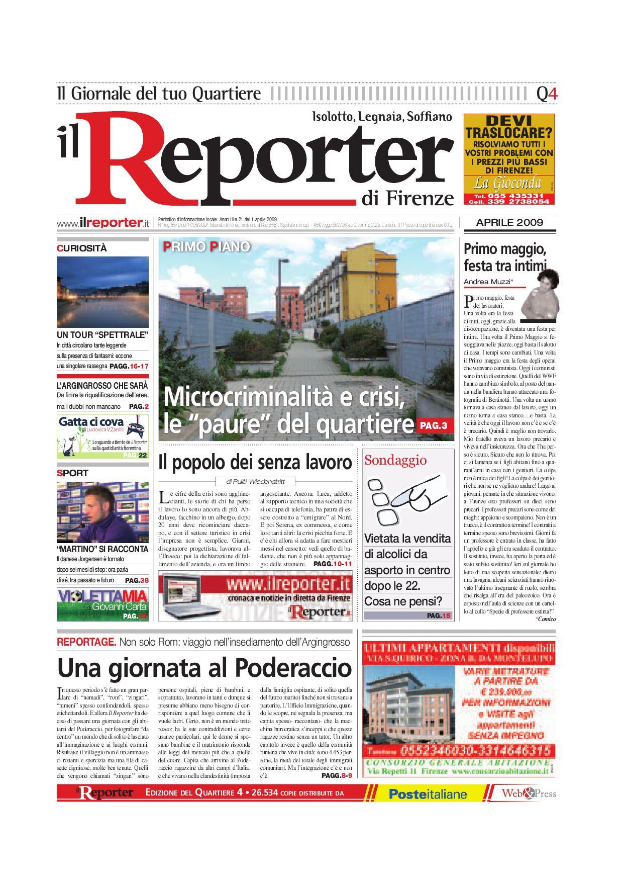 b4ae96a753fe Il reporter-Quartiere 4-aprile 2009 by ilreporter - issuu