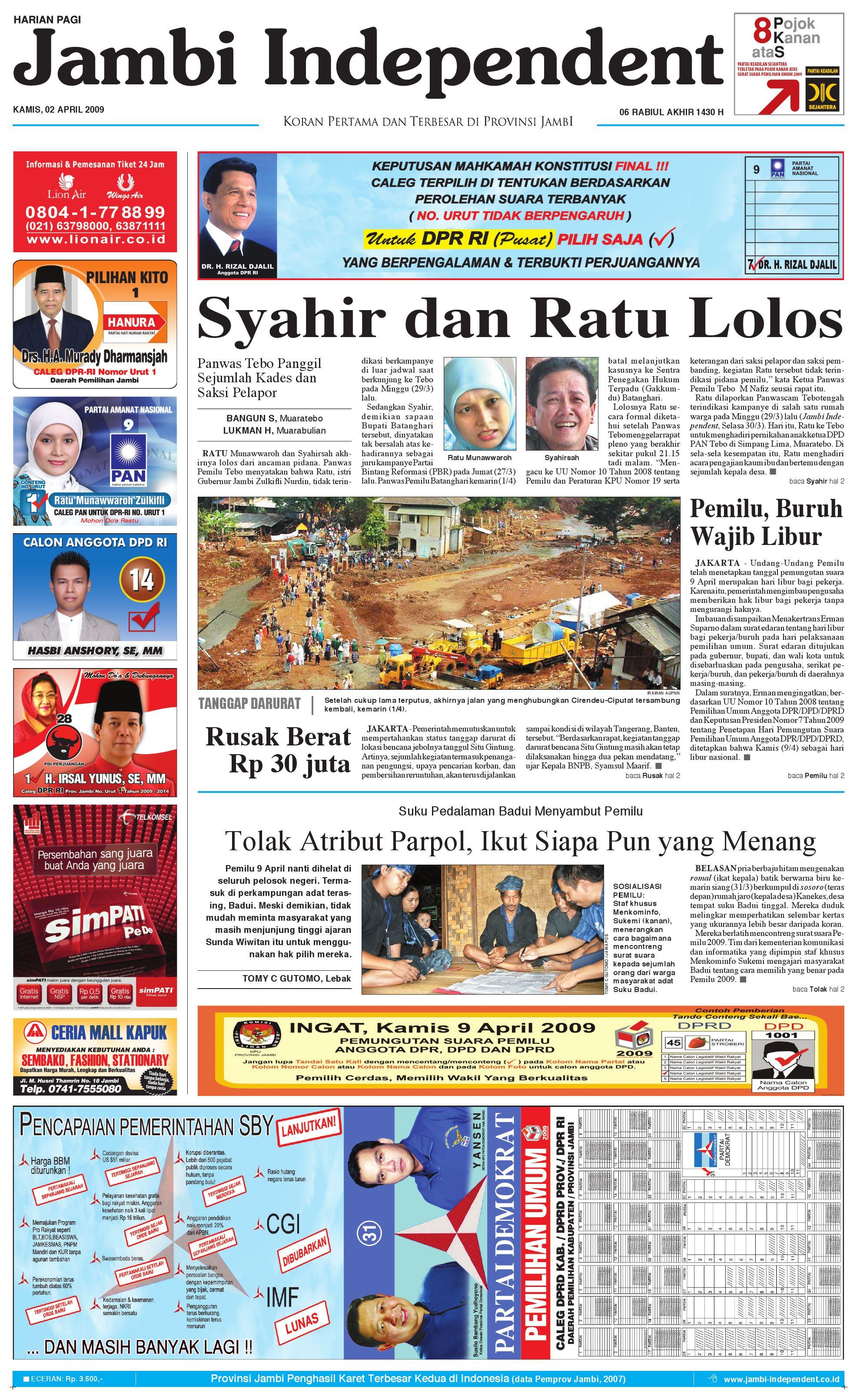Jambi Independent Edisi 02 April 2009 By Issuu Kopi Bubuk Asli Pagar Alam Butik 3 Size Plg