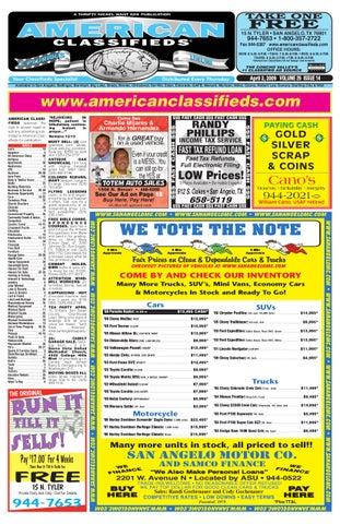 554dc079e8 San Angelo American Classifieds by San Angelo American Classifieds ...