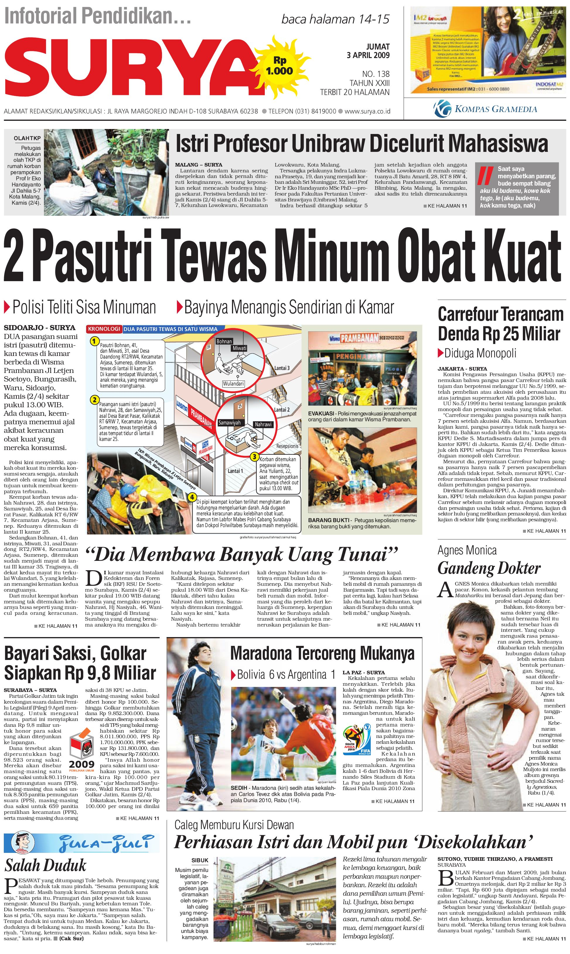 Surya Edisi Cetak 03 Maret 2009 By Harian Issuu Rejeki Anak Soleh 3 Voucher Carrefour Rp 200000