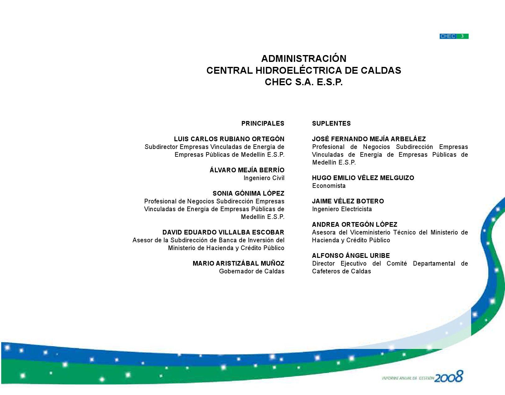 Informe De Gesti N Chec 2008 By Central Hidroel Ctrica De Caldas  # Muebles Bovel Ltda
