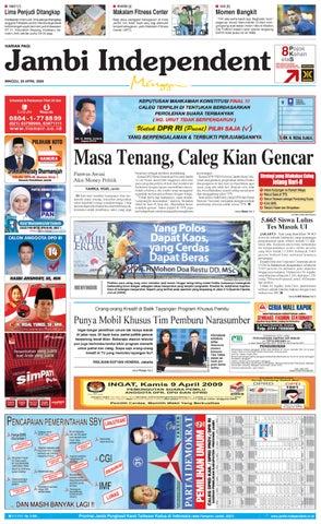 Jambi Independent edisi 05 April 2009