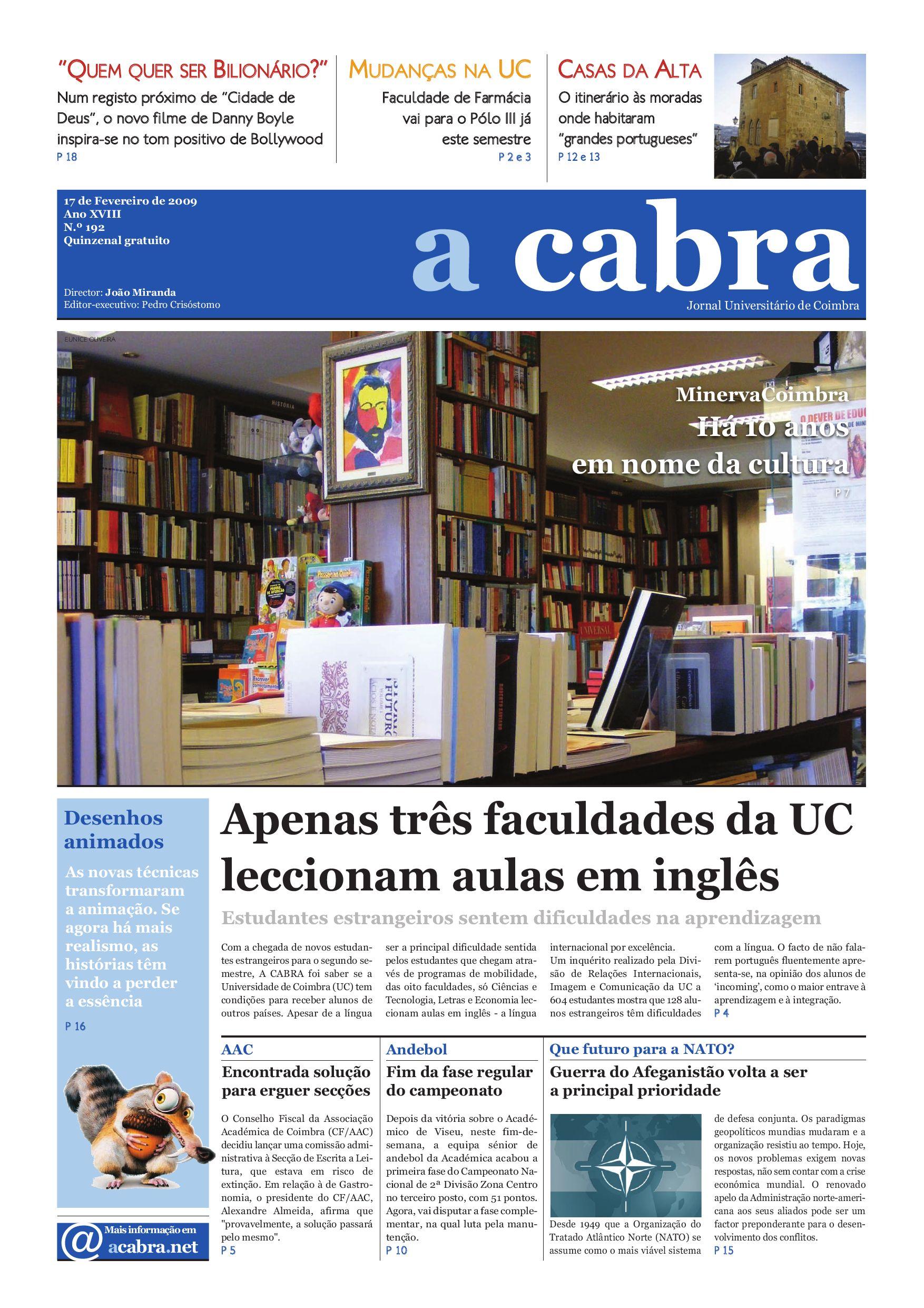 caf846924 Jornal Universitário de Coimbra - A CABRA - 192 by Jornal Universitário de  Coimbra A CABRA - issuu