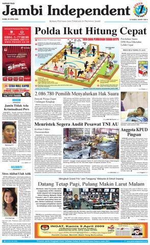 Jambi Independent edisi 09 April 2009