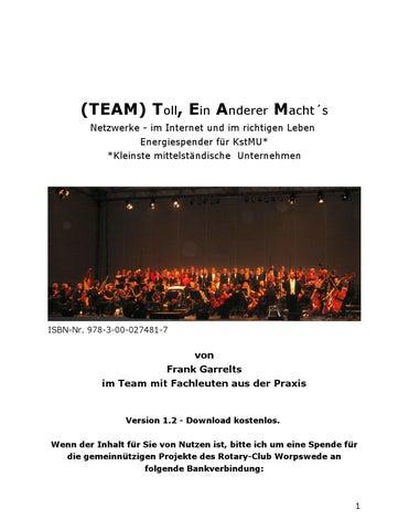 T.E.A.M. Toll, Ein Anderer Macht´s by Frank Garrelts - issuu