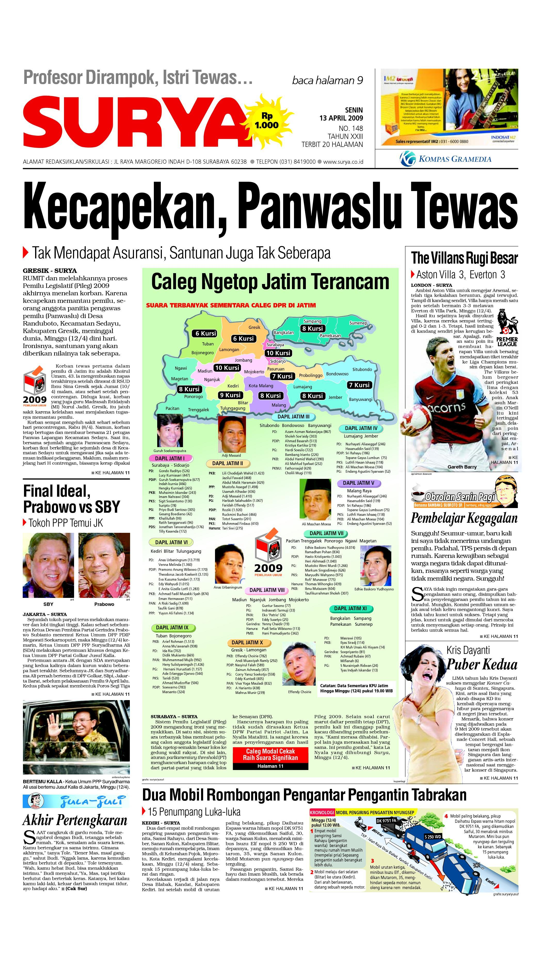 surya edisi cetak 27 april 2009 by harian surya issuu