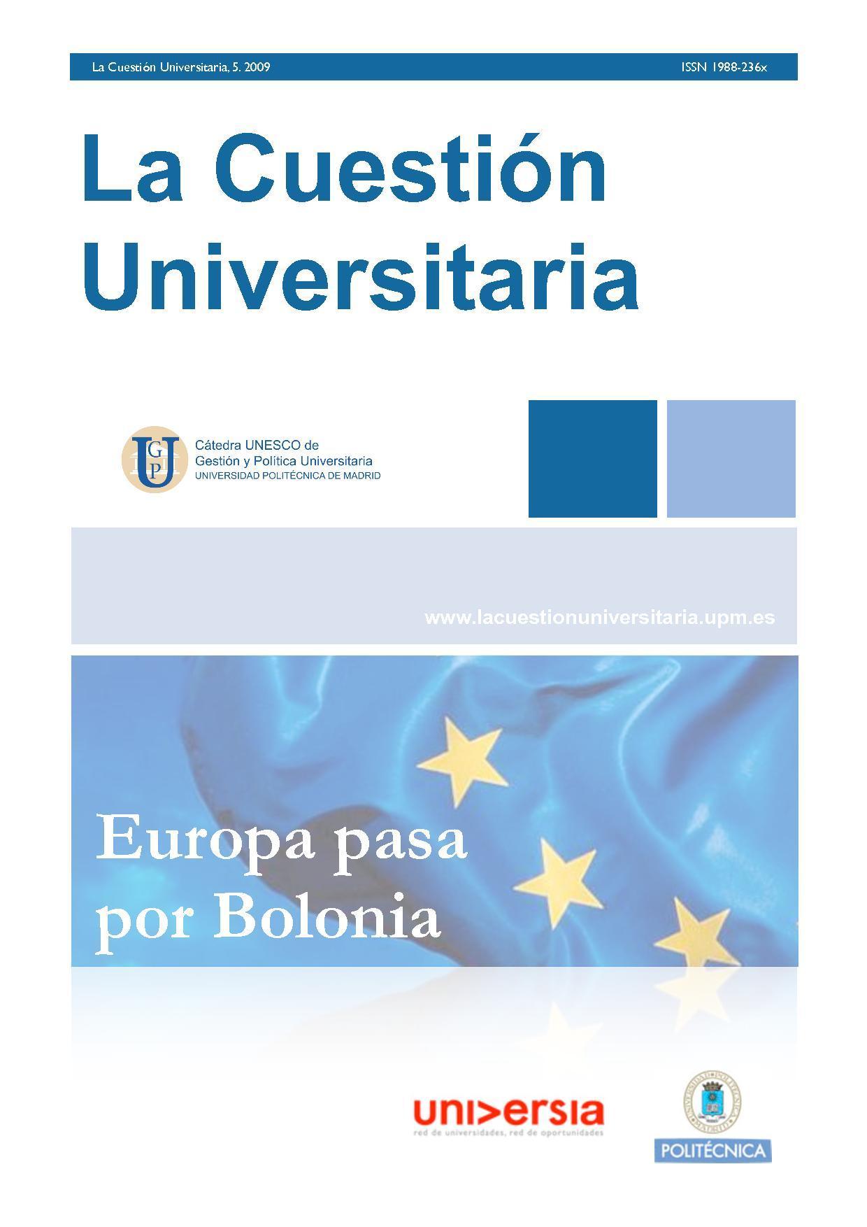 La Cuestión Universitaria, 5. Europa pasa por Bolonia. by Francesc ...